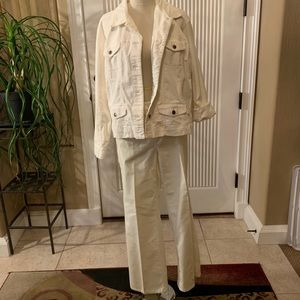 Chico's White Jacket and Pants